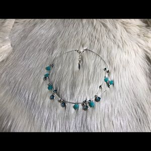 Nine West Turquoise & Silver Necklace.